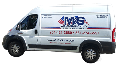 M&S Air Conditioning & Appliance Services Work Truck